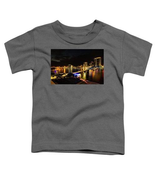 Jacksonville Skyline By Night Toddler T-Shirt
