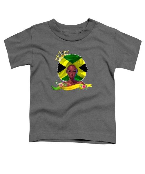 Jamaican Queen Flag Shirt Toddler T-Shirt