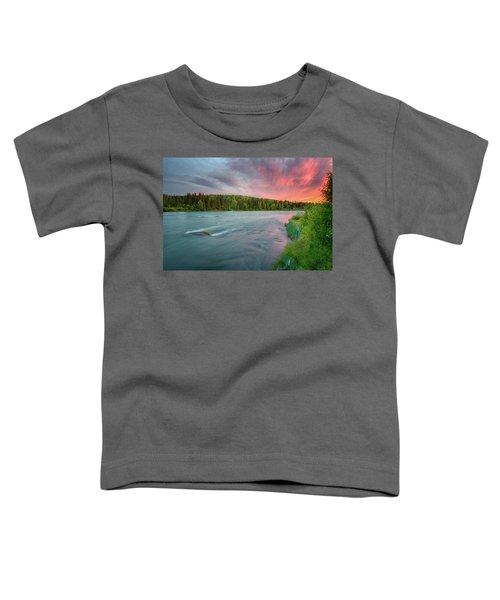 Kenai River Alaska Sunset Toddler T-Shirt