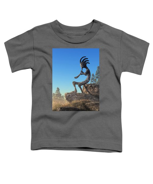Kokopelli Statue Toddler T-Shirt