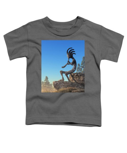 Kokopelli Statue Toddler T-Shirt