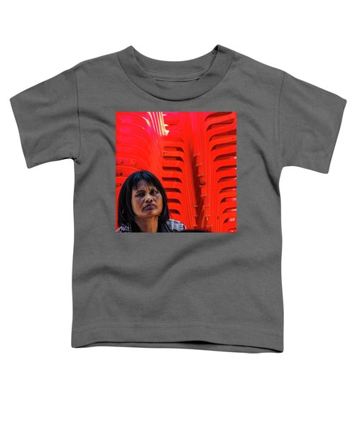 Lady With Red Chairs Toddler T-Shirt