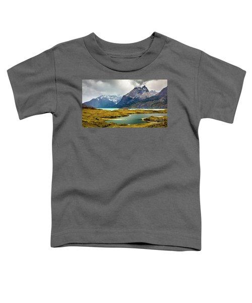 Laguna Larga, Lago Nordernskjoeld, Cuernos Del Paine, Torres Del Paine, Chile Toddler T-Shirt