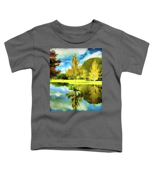 Lake Reflection - Faux Painted Toddler T-Shirt