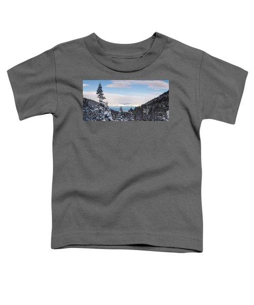 Lake Tahoe Panorama Toddler T-Shirt