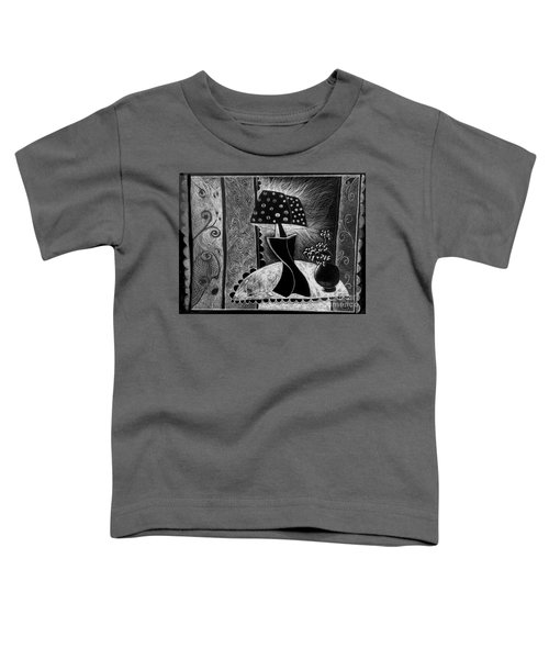Lamp And Flowers. Toddler T-Shirt