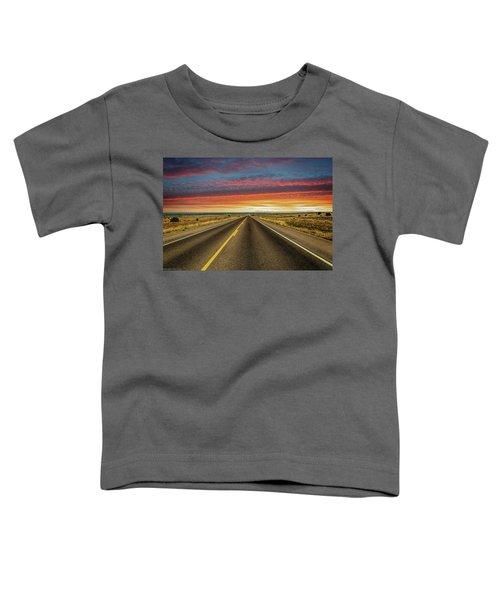 Leaving Lubbock Vanishing Point Toddler T-Shirt