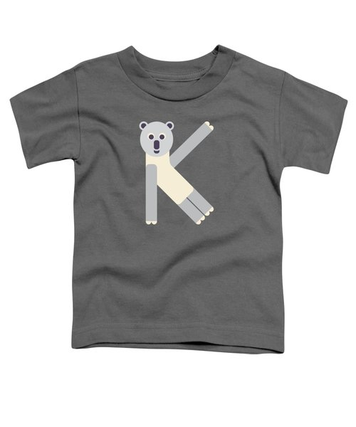 Letter K - Animal Alphabet - Koala Monogram Toddler T-Shirt