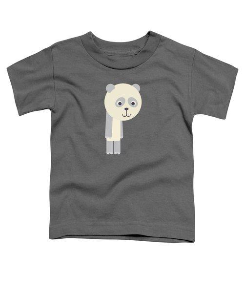 Letter P - Animal Alphabet - Panda Monogram Toddler T-Shirt