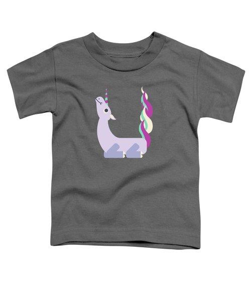 Letter U - Animal Alphabet - Unicorn Monogram Toddler T-Shirt