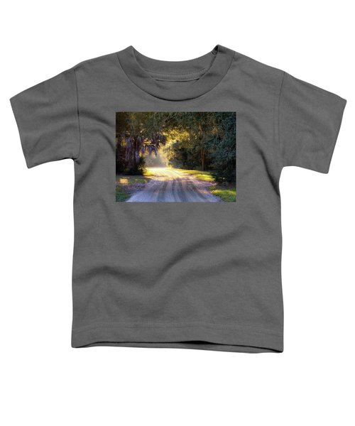 Light, Shadows And An Old Dirt Road Toddler T-Shirt