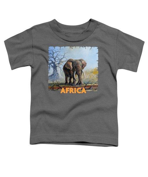 Lone Elephant Browsing Toddler T-Shirt