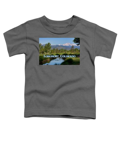 Toddler T-Shirt featuring the photograph Longmont Colorado Twin Peaks View Poster by James BO Insogna