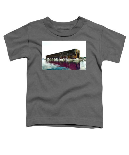 Lower Harbor Ore Dock At Marquette Michigan. Toddler T-Shirt