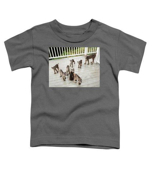 Lynx Family Portrait 11x14 Toddler T-Shirt