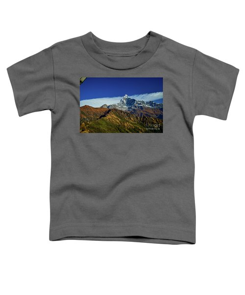 Machapuchare Mountain Fishtail In Himalayas Range Nepal Toddler T-Shirt