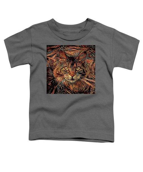 Maine Coon Cat Toddler T-Shirt
