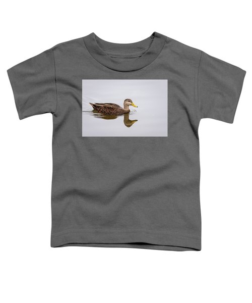 Male Mottled Duck Reflecting On The Water Toddler T-Shirt