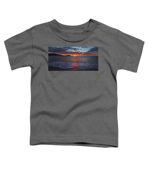 Malibu Pier Sunrise Toddler T-Shirt