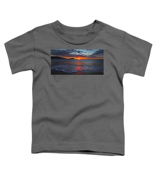Malibu Pier Sunrise Toddler T-Shirt