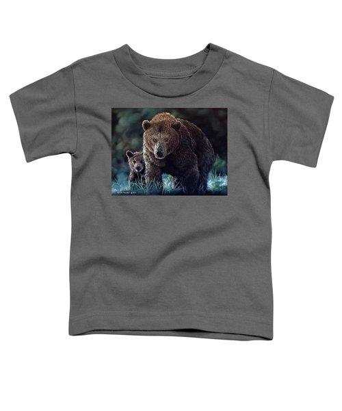 Mama Brown With Cubs Toddler T-Shirt