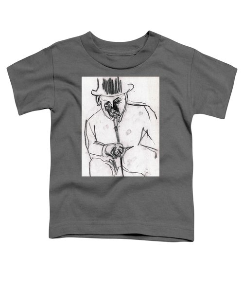 Man In Top Hat And Cane Toddler T-Shirt