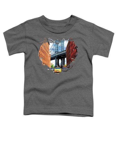 Manhattan Bridge New York City Toddler T-Shirt