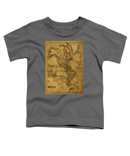 Map Of North America 1843 Toddler T-Shirt