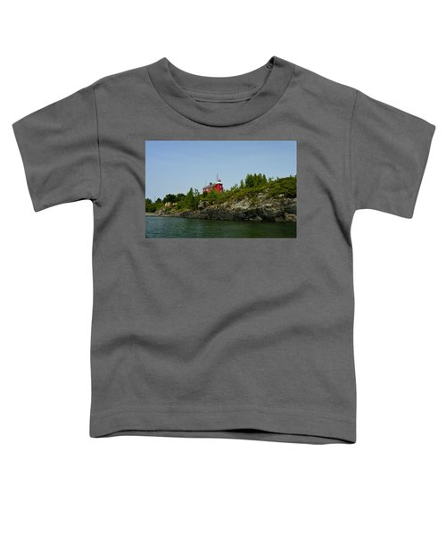 Marquette Michigan Lighthouse Toddler T-Shirt