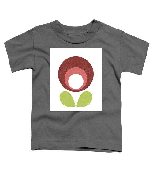 Mid Century Modern Brown Flower  Toddler T-Shirt