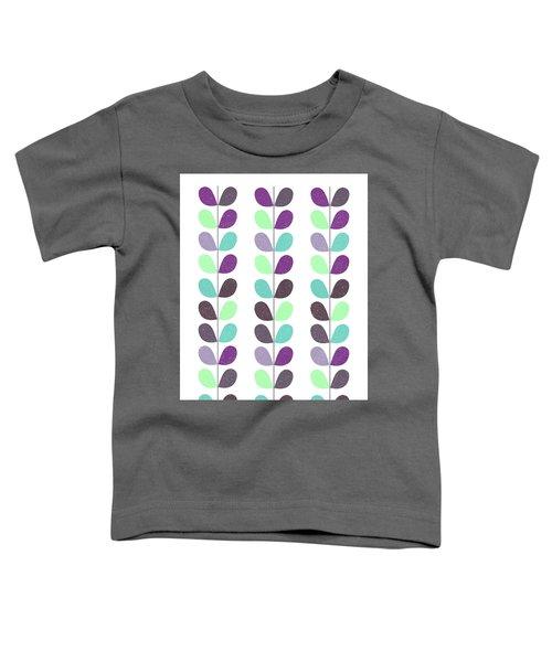 Mid Century Modern Leaf Pattern I Toddler T-Shirt