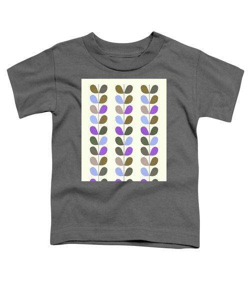 Mid Century Modern Leaf Pattern II Toddler T-Shirt