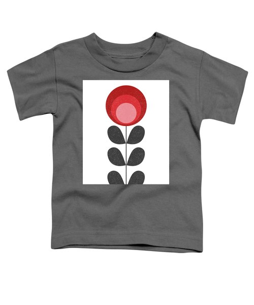 Mid Century Modern Red Flower II Toddler T-Shirt