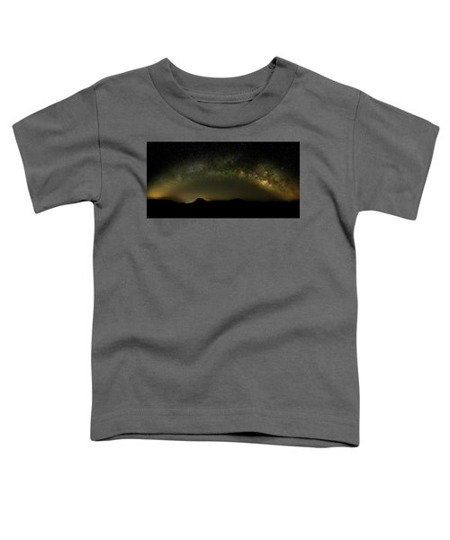 Milky Way Arch Panorama Over Tianping Mountain And Ridge-line Toddler T-Shirt