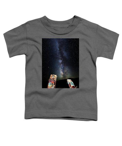 Milky Way Over Mojave Desert Graffiti 1 Toddler T-Shirt