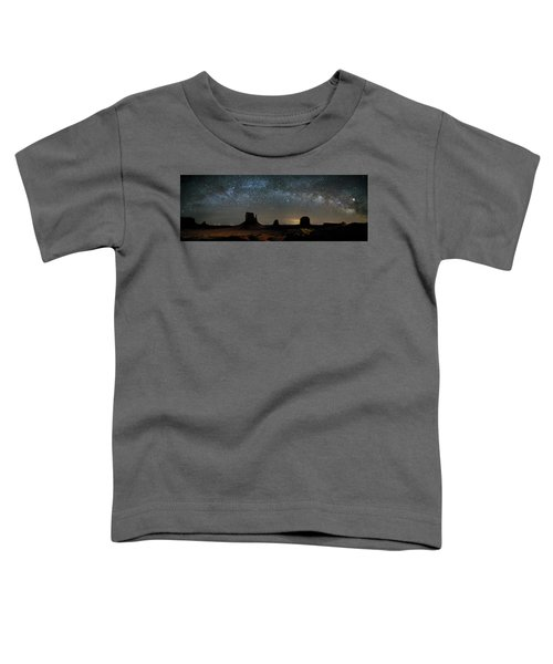 Milky Way Over Monument Valley Toddler T-Shirt