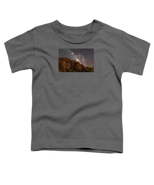 Milky Way Over Rocky Terrain Toddler T-Shirt