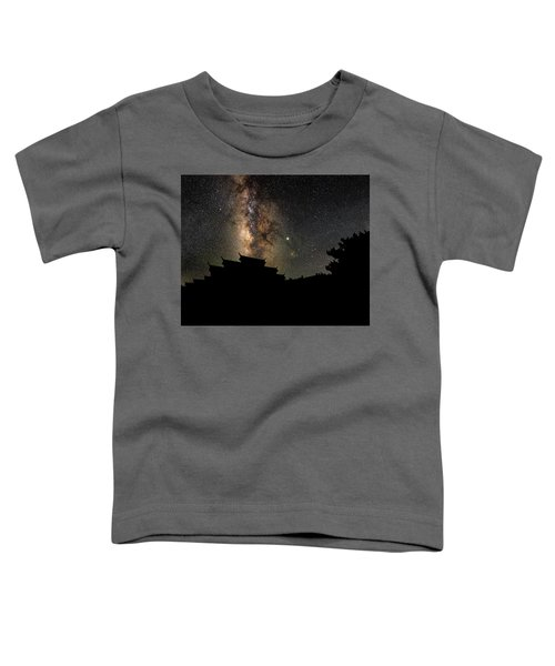 Milky Way Over The Dark Temple Toddler T-Shirt