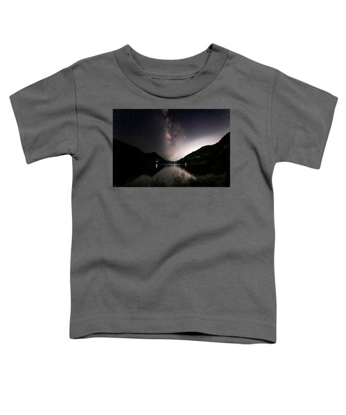 Milky Way Over The Ou River Near Longquan In China Toddler T-Shirt