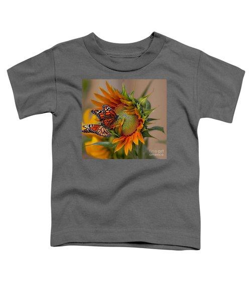 Monarchs And Sunflower Toddler T-Shirt