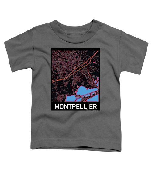 Montpellier City Map Toddler T-Shirt