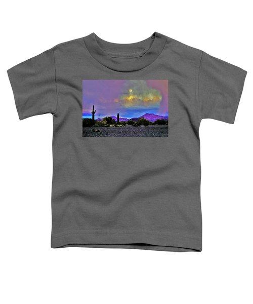 Moon At Sunset In The Desert Toddler T-Shirt