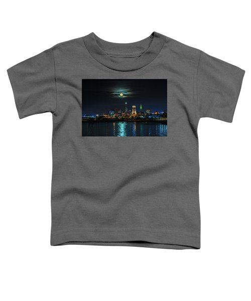 Moon Over Cleveland  Toddler T-Shirt