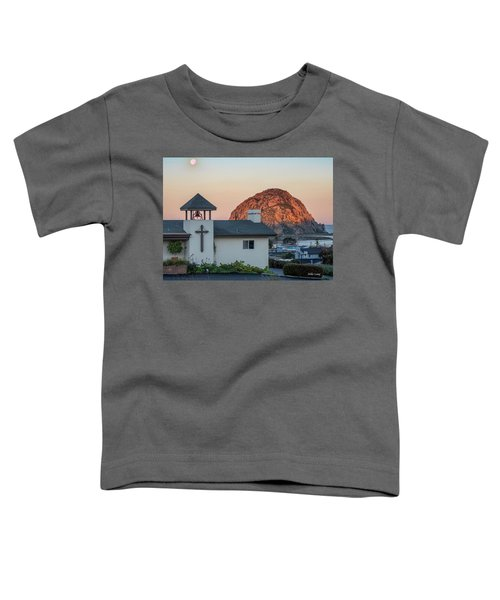 Moonset Above Morro Rock Toddler T-Shirt