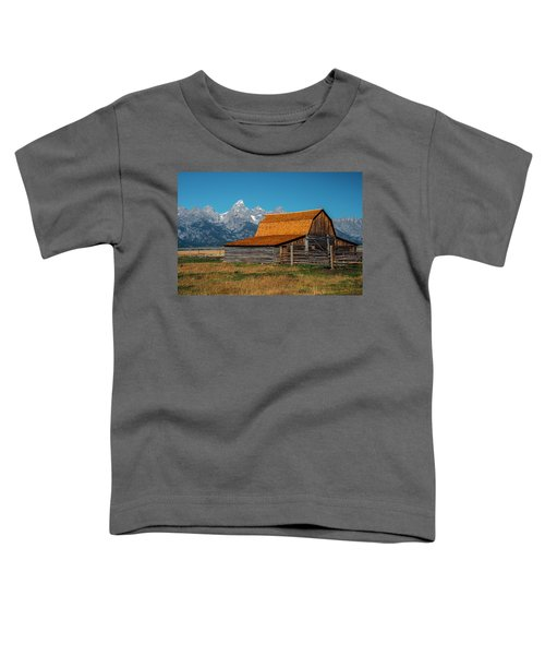 Toddler T-Shirt featuring the photograph Mormons Barn 3779 by Donald Brown