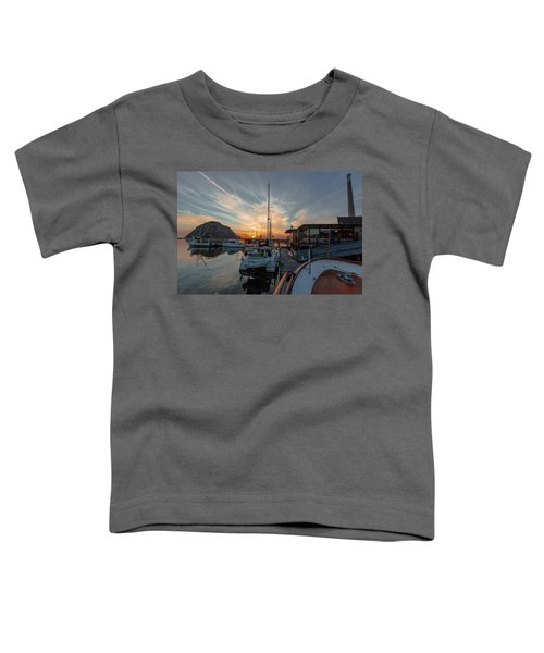 Morro Bay Sunset Toddler T-Shirt