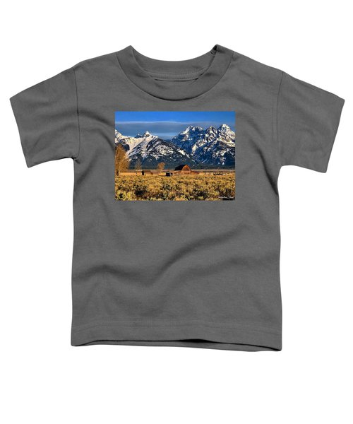 Moulton Barn Grand Tetons Toddler T-Shirt