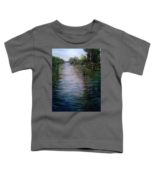 Mount Baker Peekaboo View From Lowell Riverfront Trail Toddler T-Shirt
