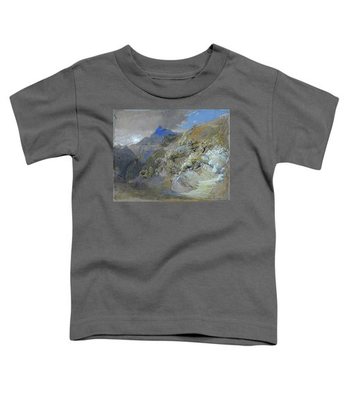 Mount Siabod From Tyn-y-coed Near Capel Curig - Digital Remastered Edition Toddler T-Shirt