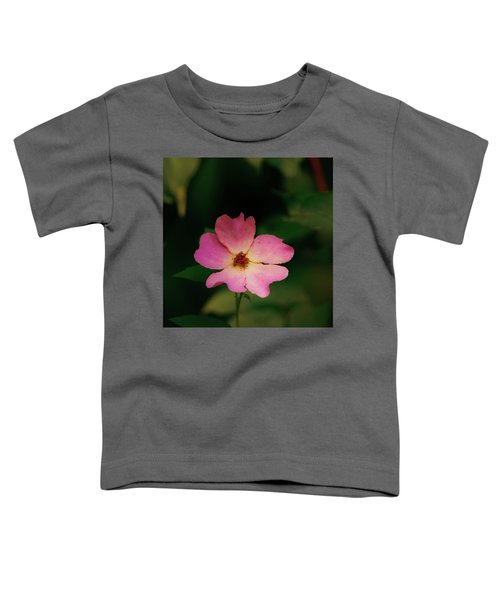 Multi Floral Rose Flower Toddler T-Shirt